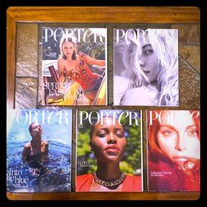RARE Porter magazines (collection), issues 25-29